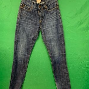 Ralph Lauren preowned skinny 3 button jeans Sz 25